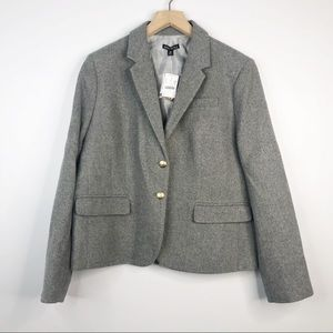 J. Crew Gray Wool Tailored Schoolboy Blazer